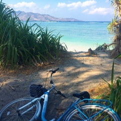 Bike rides on Gili Air, Indonesia