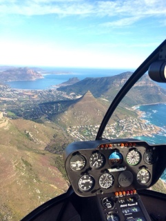 Helicopter over Cape Town