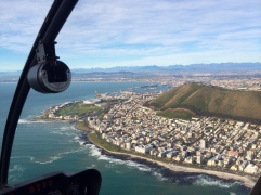 Helicopter ride over Cape Town