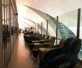 Plenty of space to relax, including on massage chairs