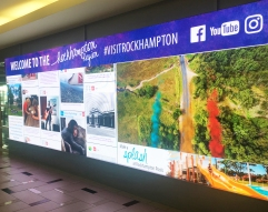 Airport social media wall