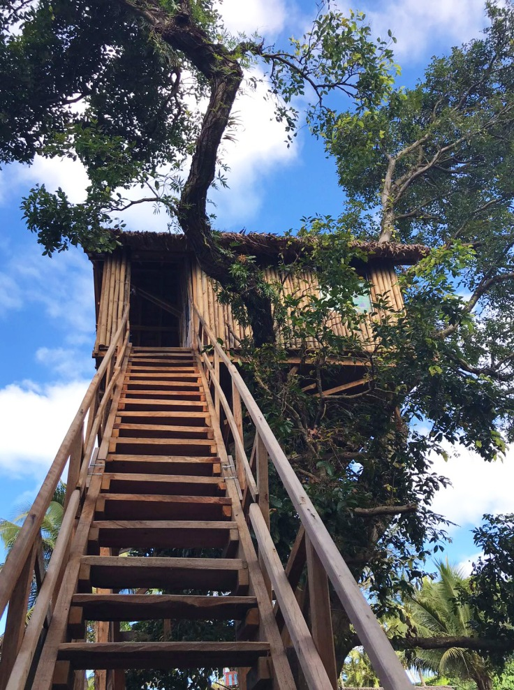Tree house at Yasur View Lodge